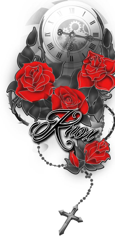 tribal rose tattoo 459x943 00019146 - tribal-rose-tattoo_459x943_00019146